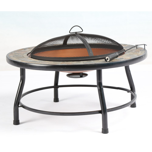 Baner Garden Steel Charcoal Firepit Table by