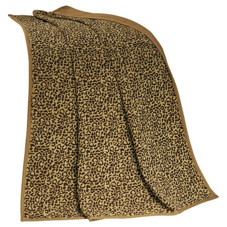 San Angelo Leopard Faux Suede Throw