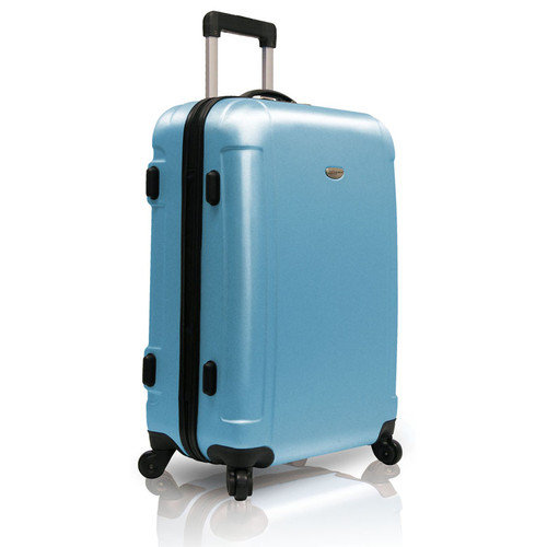 Traveler's Choice Freedom Lightweight Hard-shell 25'' Spinner Suitcase in Arctic Blue