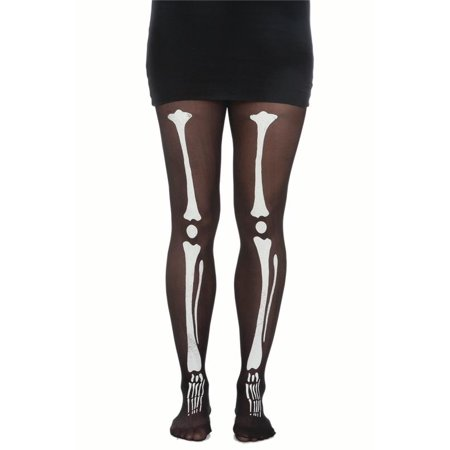 Skeleton Bone Bones Tights Pantyhose Costume Womens Black White Tights - Skeleton Tights Diy