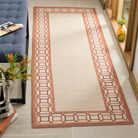 Martha Stewart Facet Border Indoor Outdoor Geometric Area Rug