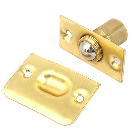 Spring Roller Mount (House Closet Door Adjustable Screw Spring Roller Copper Ball Catch Set )