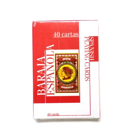 Don Manolo Spanish Suite Playing Cards - 1 Sealed Red