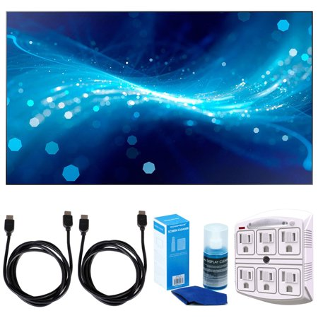 Samsung Uh46f5 46   Screen Led Lit Commercial Monitor W  Accessories Bundle Includes  2X 6Ft  Hdmi Cable  Surgepro 6 Outlet Surge Adapter With Night Light   Screen Cleaner For Led Tvs