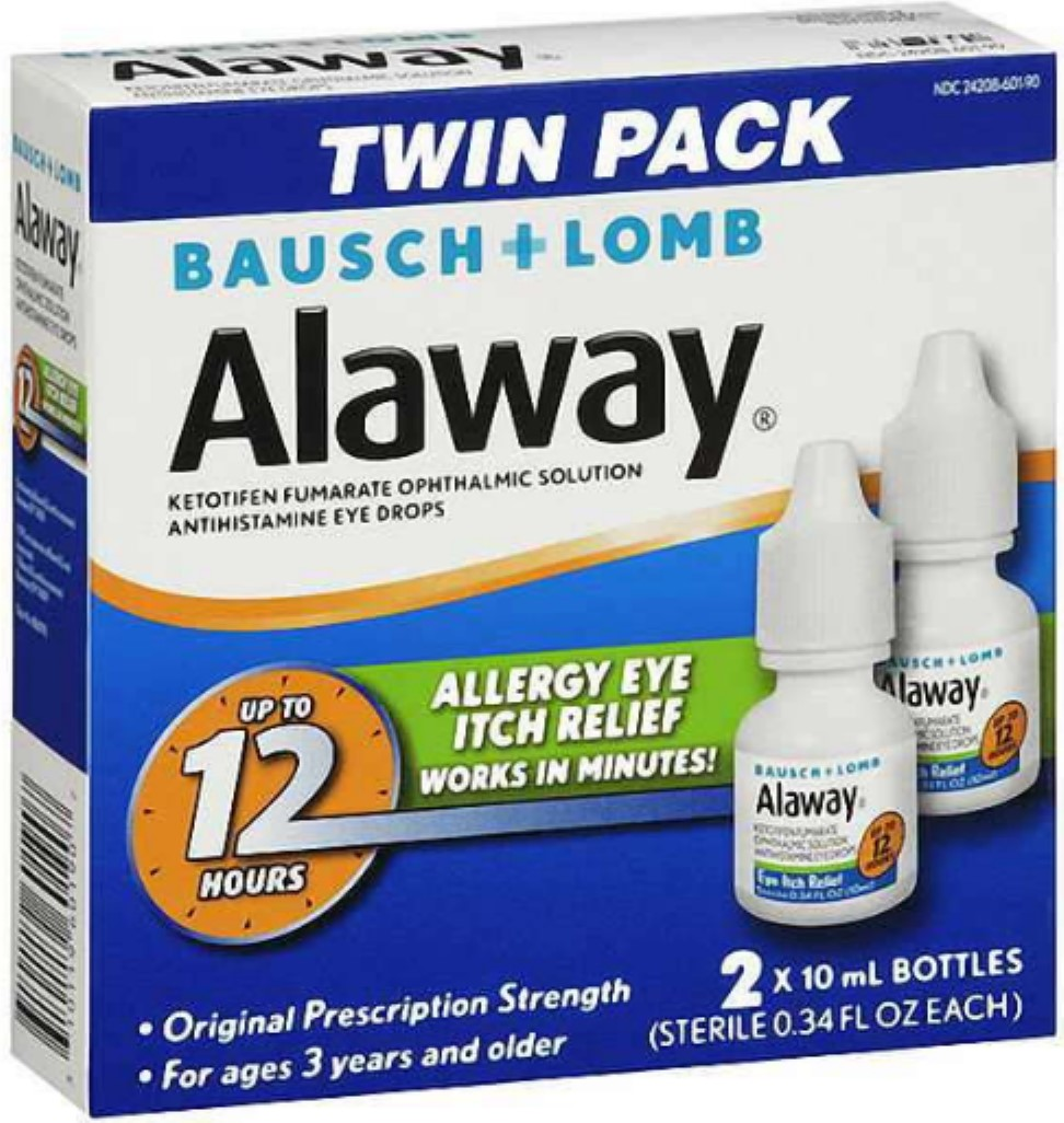 2 Pack - Bausch + Lomb Alaway Antihistamine Eye Drops [Twin Pack] 0.68 oz