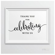 Please Share In Our Sweet Joy, Cut Cake Formal Black & White Wedding Party Signs