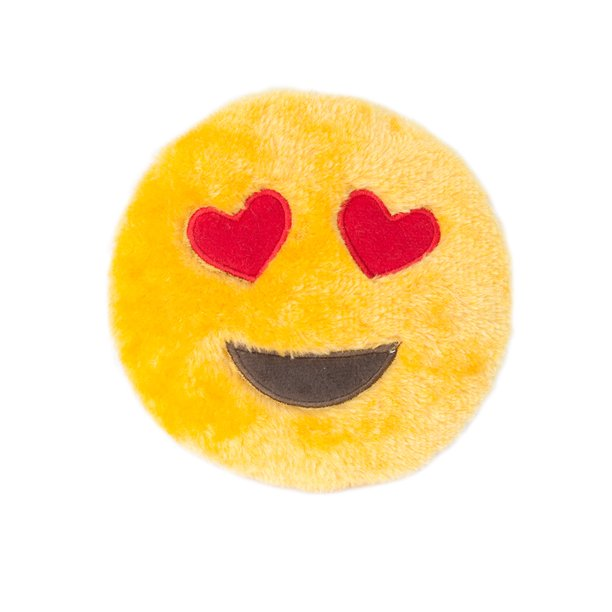 Zippy Paws Heart Eyes Emoji Dog Toy with Squeaker