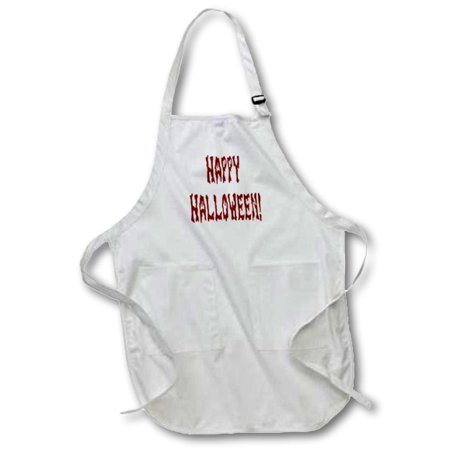 Bloody Gore (3dRose Bloody Gore Happy Halloween - Full Length Apron, 24 by 30-inch, White, With)