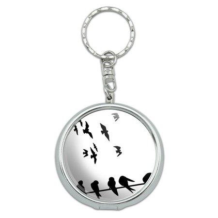 Birds On Wires Portable Ashtray Keychain - Bird Keychain