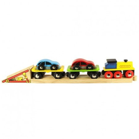 Bigjigs Toys Car Loader Wooden Train Accessory