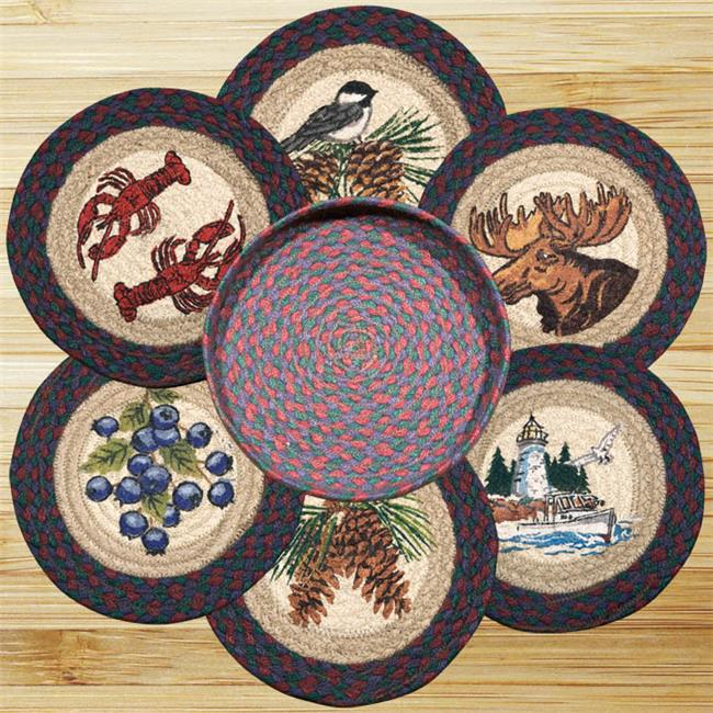 Earth Rugs 56-361NE New England Trivets in a Basket