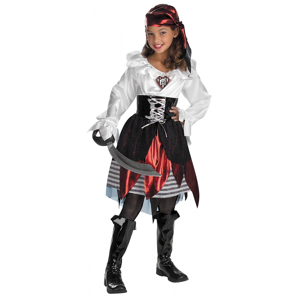 Pirate Lass Child Costume Large by