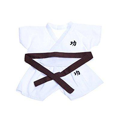 karate w/6 color belts outfit teddy bear clothes fit 14 - 18 build-a-bear, vermont teddy bears, and make your own stuffed animals
