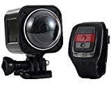 MDTEK@ 16GB TF Card+ Cube360H HD 4K WIFI Sport Action Camera 360 Degree wide angle Waterproof Portable Cam