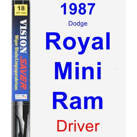 1987 Dodge Royal Mini Ram Driver Wiper Blade - Vision (1987 Dodge Mini Ram)