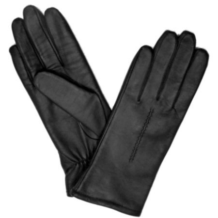 Ladies Leather Driving Gloves - Fownes Womens Black Leather Driving Gloves