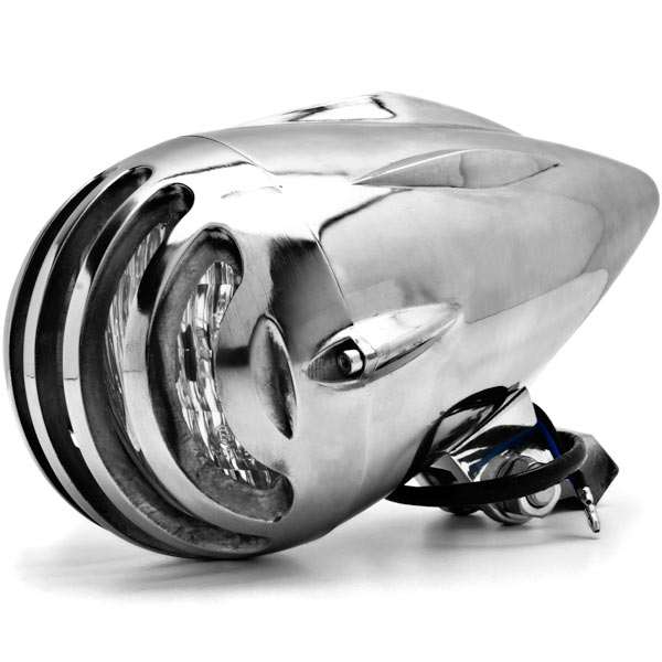 "4 3/4"" Chrome Round Motorcycle Headlight Light For Vespa ET2 ET4 Limited - image 6 of 6"