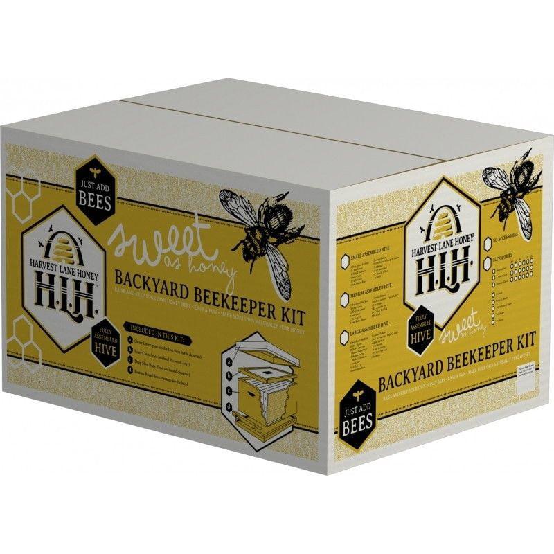 Harvest Lane Honey Small Backyard Beekeeping Kit w/ Full Beesuit Gloves WWA-101