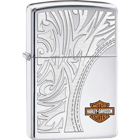 Zippo 2015 Catalog HD Harley Davidson Bar and Shield High Polish Lighter - Cigar Bar