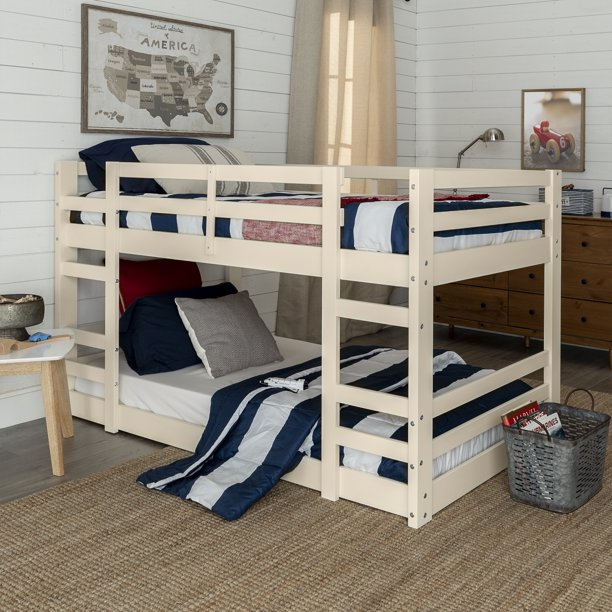 Manor Park Twin over Twin Floor Bunk Bed, Multiple Colors