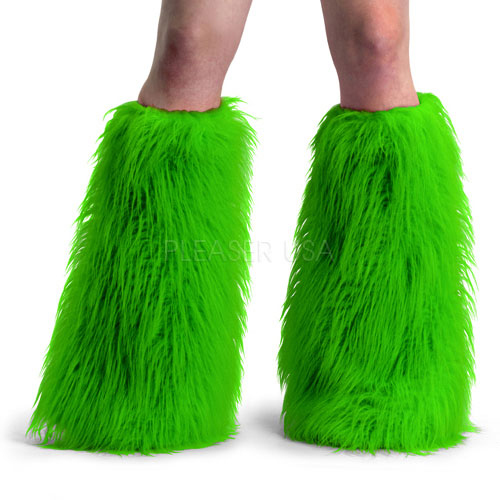 Womens Faux Fur Boot Sleeves Halloween Costume Accessory