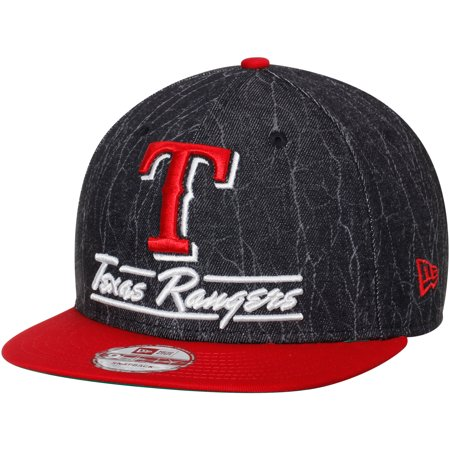 Texas Rangers New Era Lightning Strike 9FIFTY Snapback Adjustable Hat - Black/Red - M/L