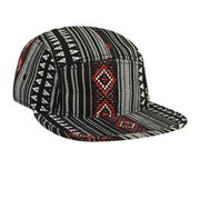 Wholesale 12 x OTTO Aztec Pattern Polyester Jacquard Square Flat Visor 5 Panel Camper Hat - Design 001 - (12 Pcs)