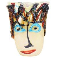 GlassOfVenice Murano Glass Picasso Head Vase - Tall