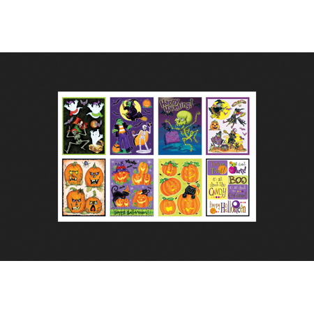 Impact Innovations Cling Assortment Halloween Decoration Multicolored 12 in. W x 17 in. L 48 pc. - Economic Impact Of Halloween