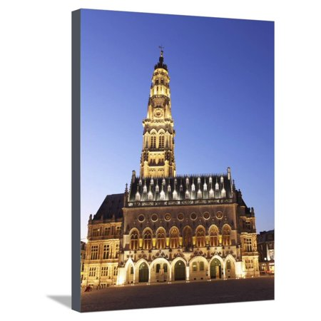 Petite Place (Gothic Town Hall (Hotel De Ville) and Belfry Tower, UNESCO World Heritage Site, Petite Place (Place Stretched Canvas Print Wall Art By Stuart)