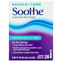 Soothe Preservative-Free Lubricant Eye Drops 28 ct 0.02 fl oz EA (0.6 mL EA)