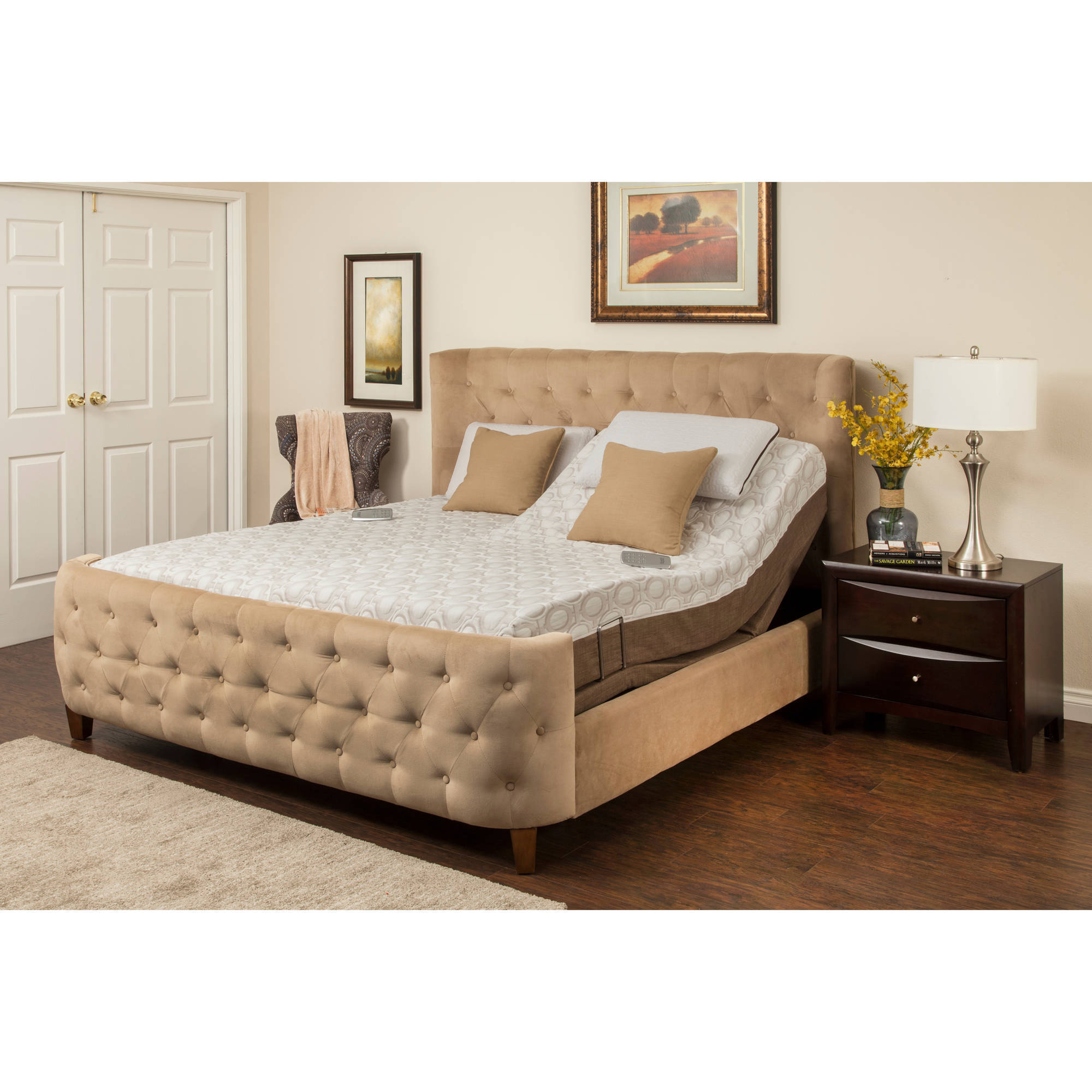 "Blissful Nights Dahlia 11"" Memory Foam Mattress with M-3000 Adjustable Bed Base, Multiple Sizes by South Bay International, Inc."