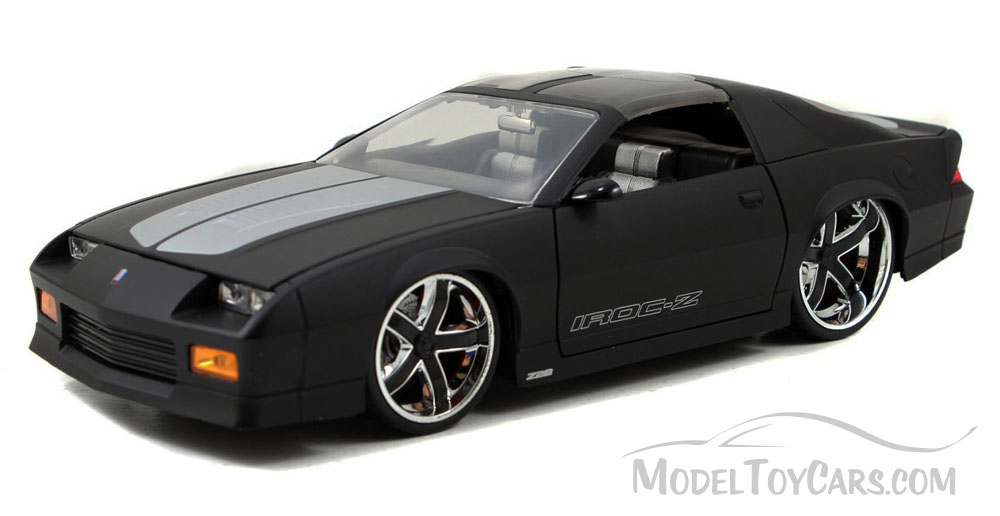 1985 Chevy Camaro w  Removable T-Top, Black White Jada Toys Bigtime Muscle 91444 1 24... by Jada
