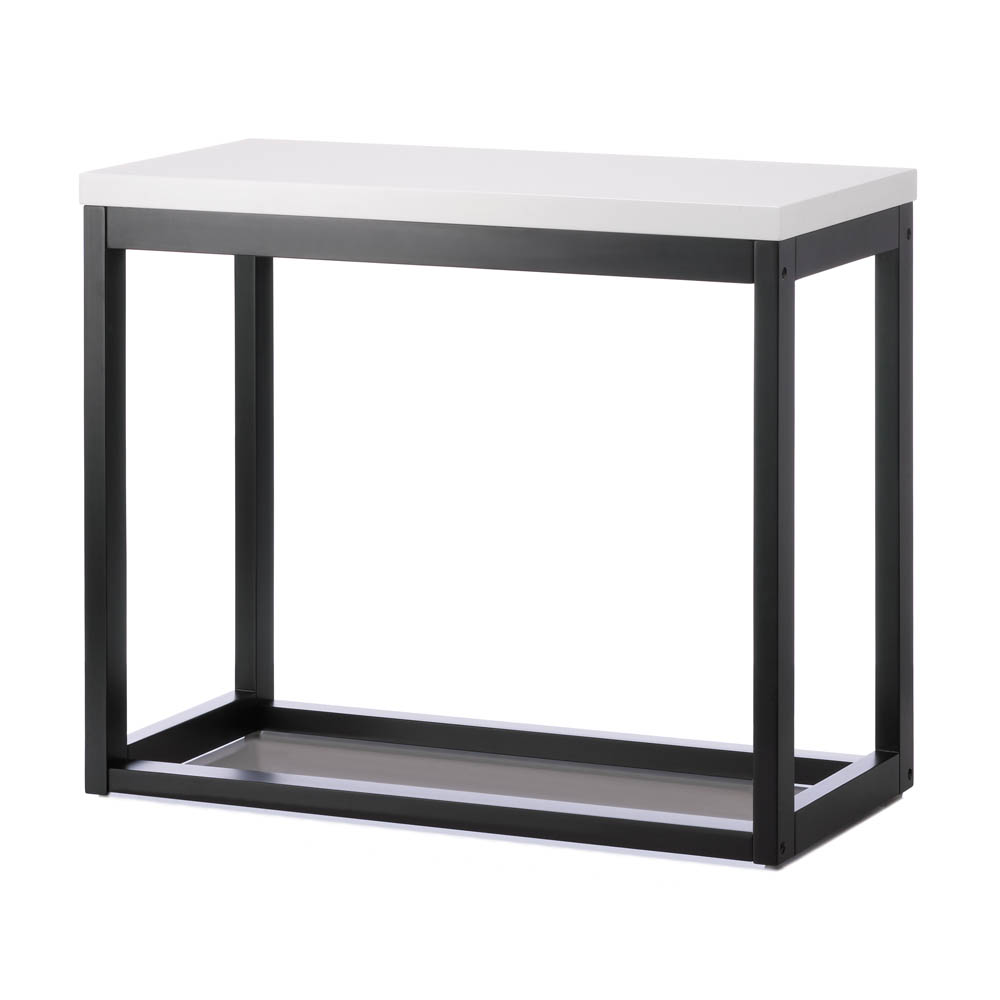 Bon Long Side Table, Rustic Black Long Console Table High Stand