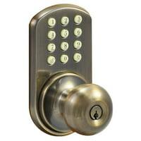 MiLocks HKK-01AQ Touchpad Electronic Door Knob, Antique Brass