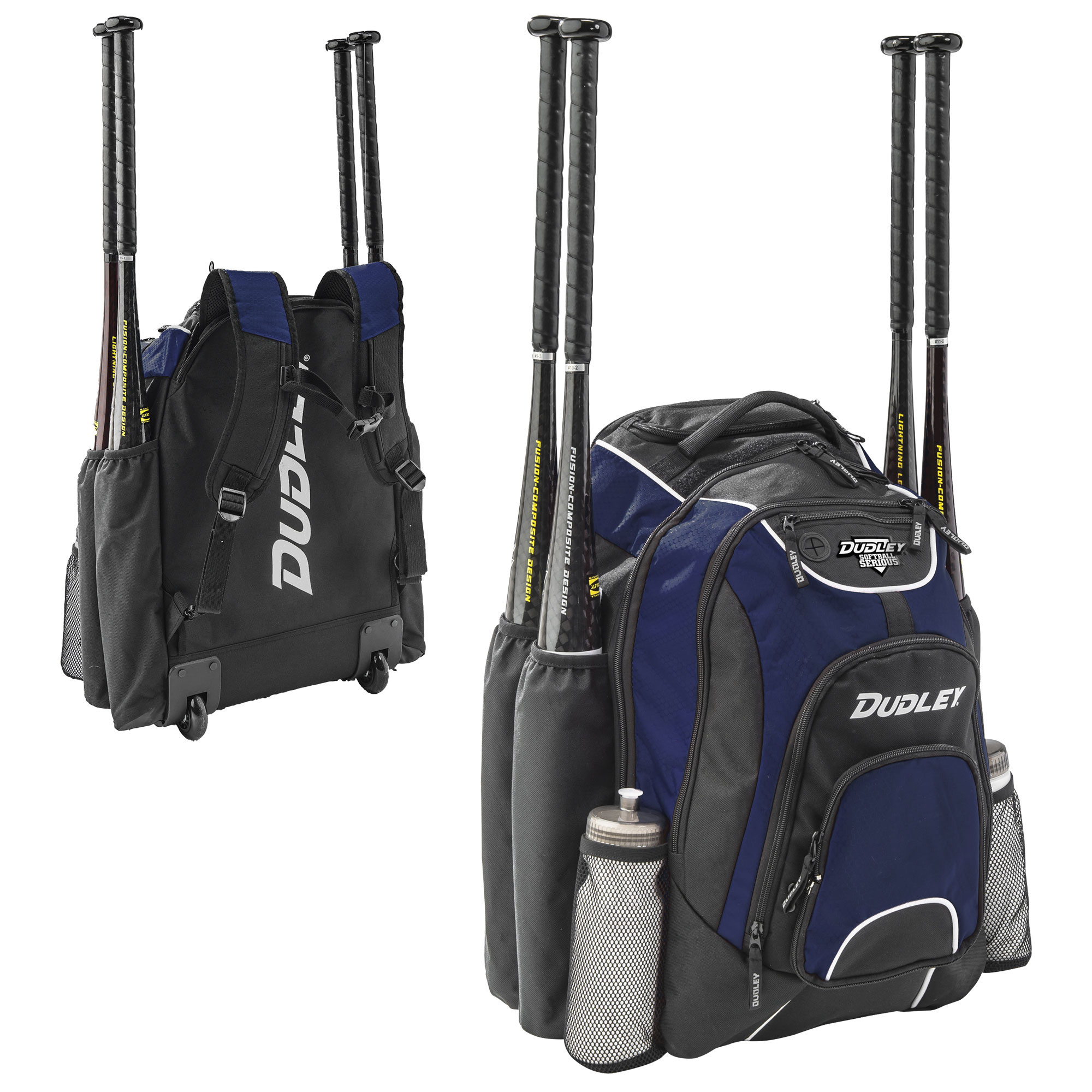 Dudley Softball Wheeled and Carry Bat Pack Backpack Bag