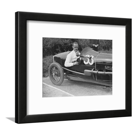 Goldie Gardner in his Salmson GS at the JCC 200 Mile Race, Brooklands, Surrey, c1920s Framed Print Wall Art By Bill Brunell (Gs Race Suits)