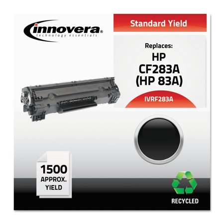 Innovera F283A Compatible Reman CF283A (83A) Black Toner Cartridge Black Reman Toner