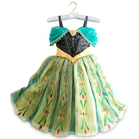 Disney Store Frozen Princess Anna Deluxe Coronation Costume: Size 9/10 (Disney Anna Costume)