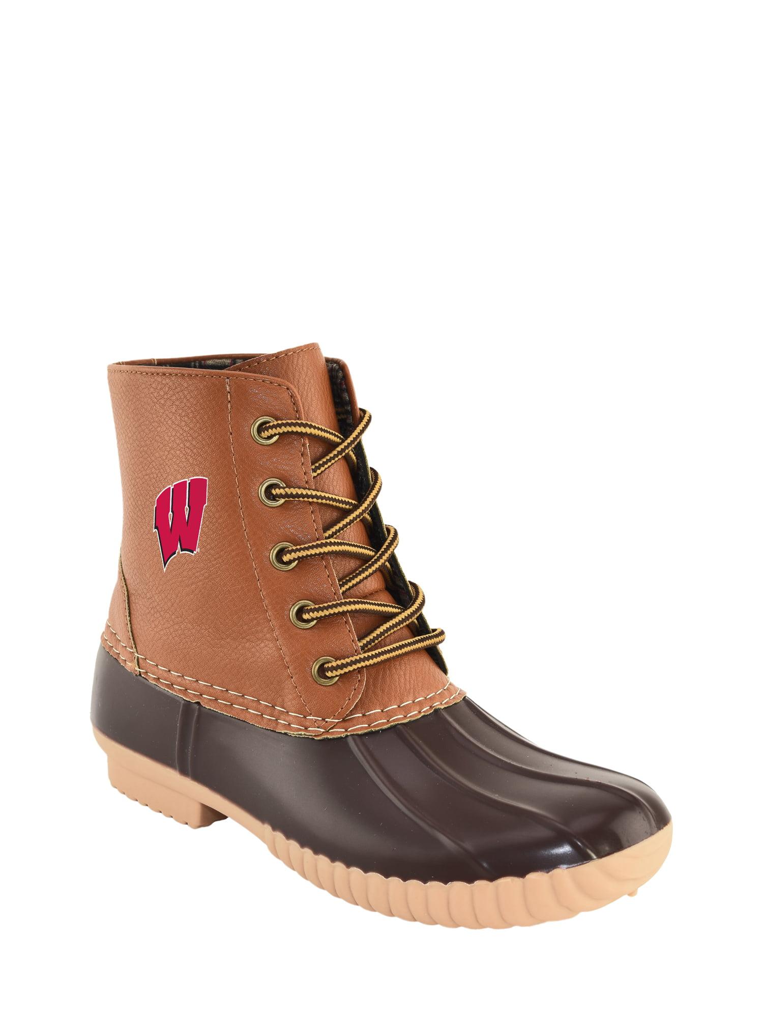 NCAA Women's Wisconsin -High Duck Boot by Jordache LTD