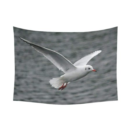 CADecor Seagull Flying Above the Sea Tapestry Wall Hanging Art 60x80 inches ()
