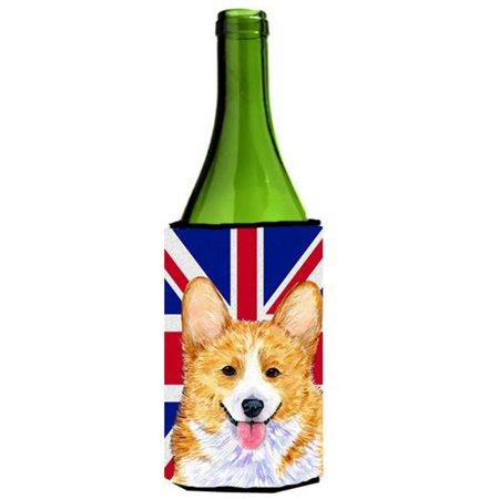 Corgi With English Union Jack British Flag Wine bottle sleeve Hugger - 24 Oz. - image 1 de 1