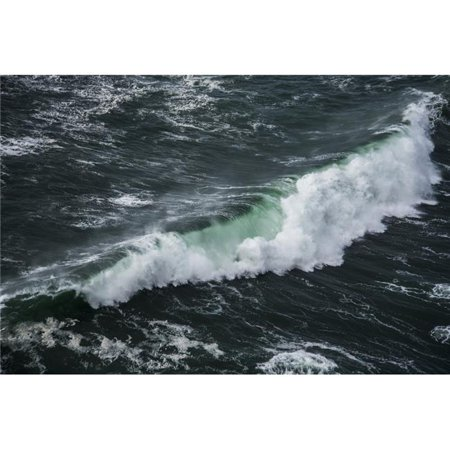 A Wave Breaks at Cape Falcon - Manzanita Oregon United States of America Poster Print - 38 x 24 in. - Large - image 1 de 1