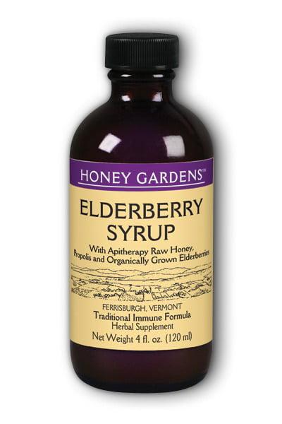 Honey Elderberry Extract Organic Honey Gardens 4 oz Liquid by