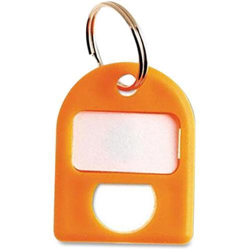 CARL 80078 Color-coded Labeling Key Tags - 8/Pack - Plastic - Yellow