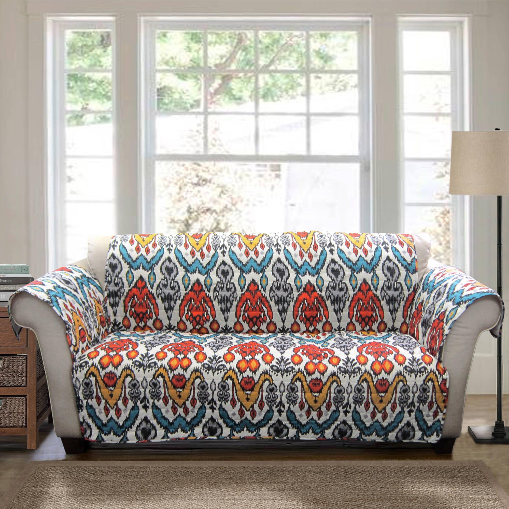 Jaipur Ikat Furniture Protectors Turquoise Rust Walmart