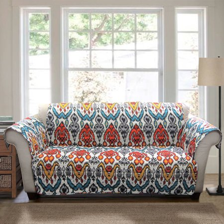 Jaipur Ikat Furniture Protectors Turquoise Rust Sofa Couch Cover