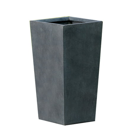 Tapered Stone Finish Tall Planter (Small)