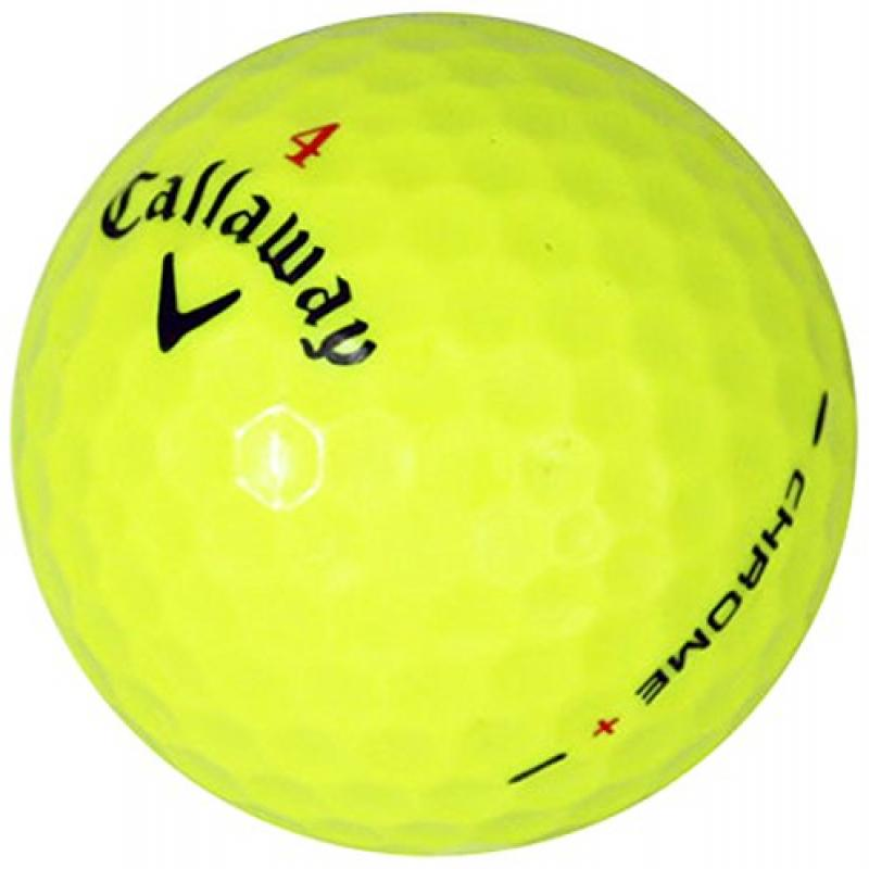Callaway HEX Chrome Yellow AAAAA Pre-Owned Golf Balls