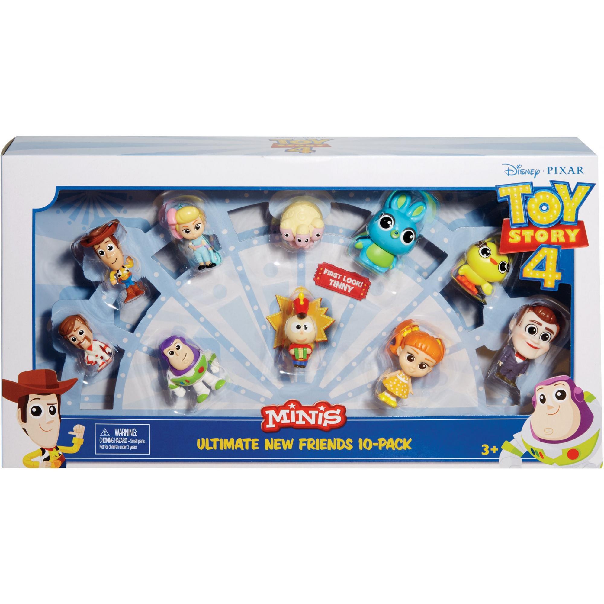 Disney Pixar Toy Story 4 minis-Ultimate nouveaux amis 10 FIGURE PACK